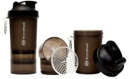SmartShake 600ml Black Gunsmoke  IŠPARDUOTA