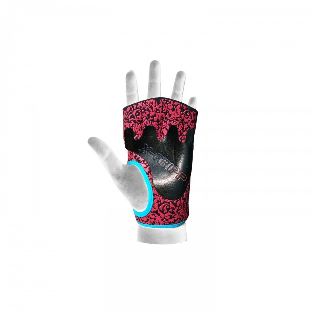 Chiba Lady Motivation Gloves Black/Pink/Turquoise