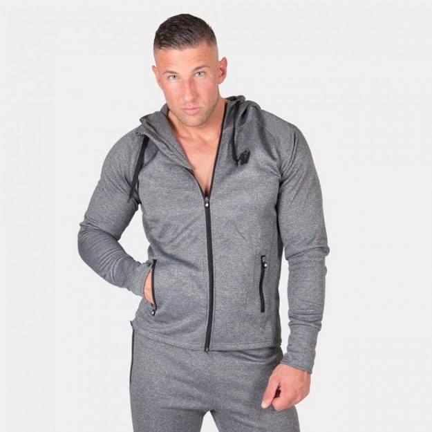Gorilla Wear Bridgeport Zipped Hoodie - Dark Gray