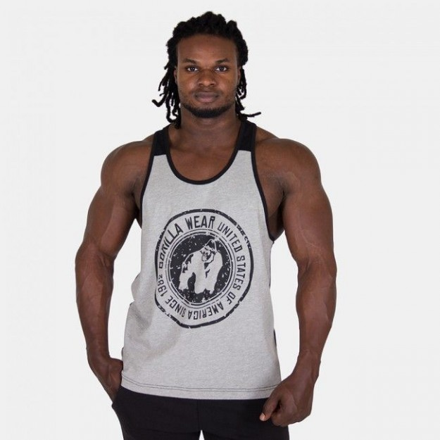 Gorilla Wear Roswell Tank Top Gray/Black