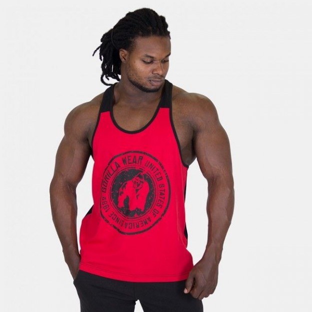 Gorilla Wear Roswell Tank Top Red/Black