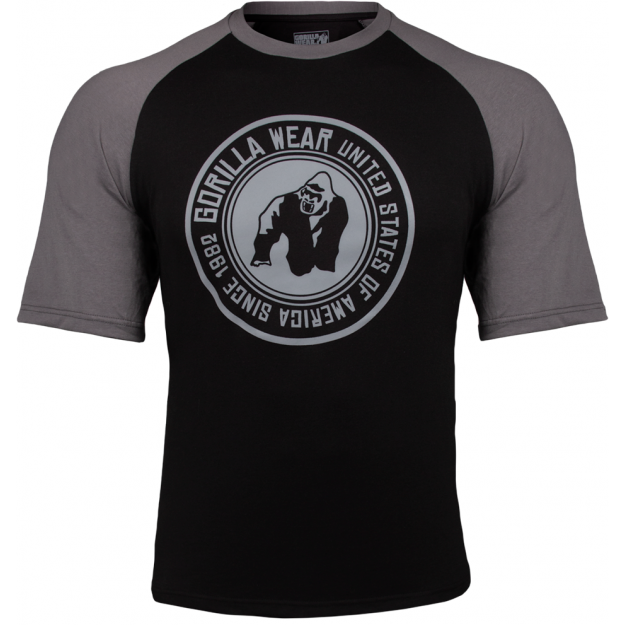 Gorilla Wear Texas T-shirt - Black/Dark Gray