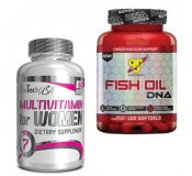 Biotech Multivitamin For Women + BSN DNA Fish Oil (Sutaupote €2.50)