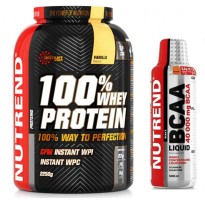 Nutrend Whey  + Nutrend Bcaa 2,2kg. + 500ml.