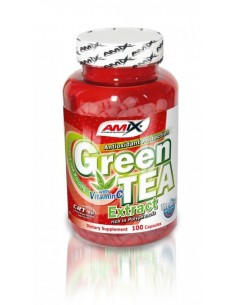 Amix Green Tea extract su vit. C 100 kaps.